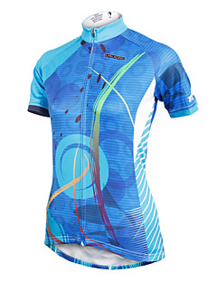 ILPALADINO Cycling Jersey Women's Short Sleeve BikeBreathable Quick Dry Ultraviolet Resistant Reduces Chafing Compression Lightweight