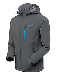 Men's Hiking Jacket Waterproof Thermal / Warm Windproof Insulated Rain-Proof Wearable Jacket Softshell Jacket Winter Jacket for Camping /
