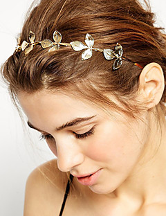 Women Vintage Golden Leaves Hair Band Hair Accessories