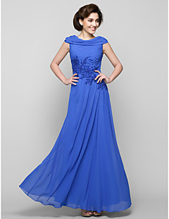 A-line Mother of the Bride Dress - Royal Blue Ankle-length Sleeveless Chiffon