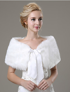 Wedding  Wraps / Fur Wraps Shawls Sleeveless Faux Fur Ivory Wedding / Party/Evening / Casual Bow Lace-up