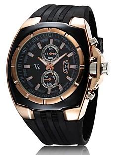 V6® Men's Watch Japanese Quartz Military Gold Case Rubber Band  Cool Watch Unique Watch Fashion Watch