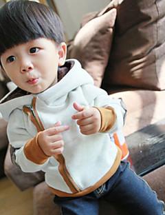 Ensfarvet Drengens Hættetrøje og sweatshirt Vinter Bomuld