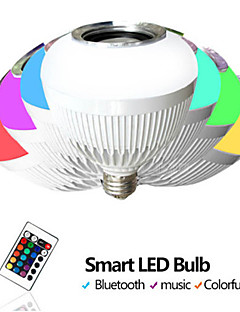 trådløs fjernkontroll smart bluetooth ball boks ledet musikk farge lyspære akustisk bass lydboks 90-240v