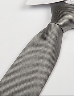 άνδρες ασήμι λευκό πολυεστέρα μετάξι ζακάρ βέλος twill γραβάτα γραβάτα