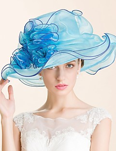 Women's Organza Headpiece-Wedding / Special Occasion / Casual / Outdoor Hats 1 Piece