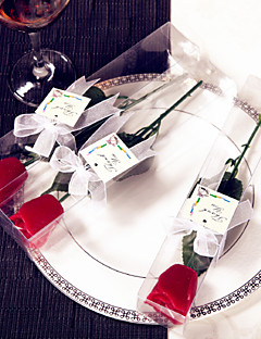 Valentine's Day Red Rose Candle Favors, wedding souvenirs