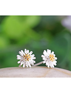 Žene Sitne naušnice kostim nakit Plastika Flower Shape Tratinčica Jewelry Za Vjenčanje Party Dnevno