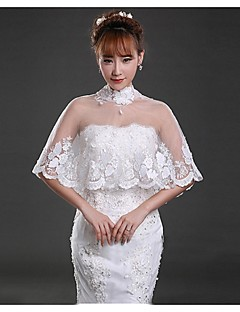 Wedding / Party/Evening Lace / Tulle Capelets Sleeveless Wedding  Wraps