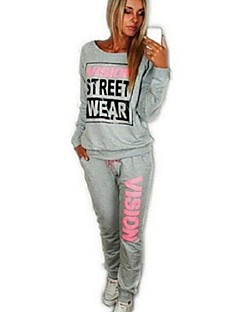 Women's Letter Loose Leisure Fashion  Hoodies , Casual Round Neck Long Sleeve