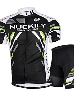 NUCKILY® Cycling Jersey with Shorts Men's Short Sleeve BikeBreathable / Anatomic Design / Ultraviolet Resistant / Wearable / Soft / 3D