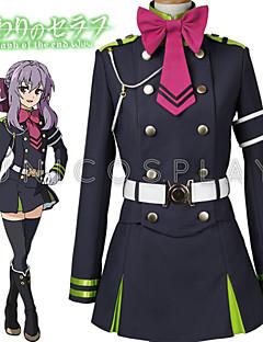 Seraph of the End Owari No Serafu Shinoa Hiragi Outfit Uniform Dress Cosplay Costume