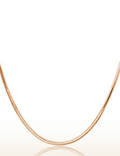 18k Rose Golden Chain Necklace (Length:46cm)