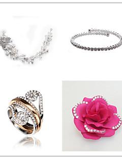 Ékszer szett Női Évforduló / Esküvő / Eljegyzés / Születésnap / Ajándék / Parti / Különleges alkalom Ékszer-szettekKocka cirkónia /