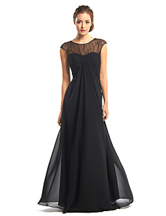 TS Couture® Formal Evening Dress A-line Jewel Floor-length Chiffon with Lace