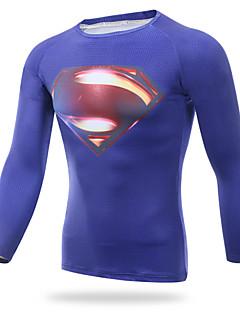 XINTOWN Superman T-shirt T-shirt Men Riding Sports Fitness Tights