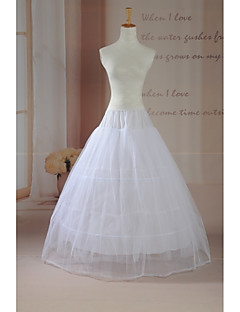 Slips Ball Gown Slip Floor-length 2 Tulle Netting White