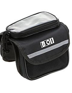 BOI® תיק אופניים 1Lמסגרת חיצונית לתיקי גב / תיקים למסגרת האופניים / טלפון נייד תיק טלפון/Iphone / מסך מגע / רב תכליתי תיק אופניים Terylene