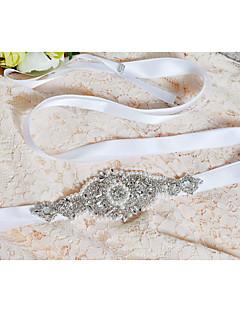 Damen Schärpen Schärpe Satin Hochzeit / Party / Abend / Alltagskleidung Pailletten / Perlstickerei / Perlen / Strass