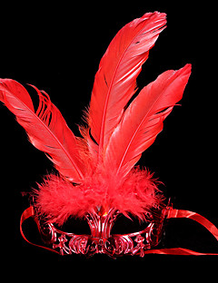 Mask / Masquerade Angel/Devil Festival/Holiday Halloween Costumes Red / Golden / Silver Solid Mask Halloween / Carnival UnisexShiny