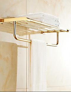 浴室棚 Ti-PVD ウォールマウント 60cm*21cm*14cm(23.6*8.4*5.5inch) 真鍮 モダン