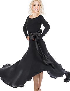 ריקודים סלוניים שמלות בגדי ריקוד נשים ביצועים ספנדקס פוליאסטר עטוף חלק 1 שמלות 105