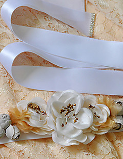 Raso Matrimonio / Party/serata / Da giorno Fusciacca-Con perline / Con applique / Fantasia floreale Da donna 250cmCon perline / Con