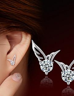 Damen Ohrring Silber Kubikzirkonia Stud Earrings