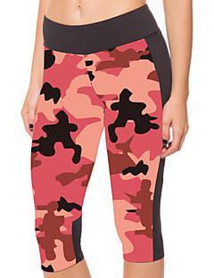 Yoga Pants 3/4 calças justas Compressão Alto Elasticidade Alta Wear Sports Rosa Mulheres Outros Ioga / Fitness