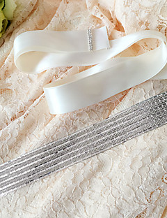 Satin Wedding / Party/ Evening / Dailywear Sash-Sequins / Beading Women's 98 ½in(250cm) Sequins / Beading