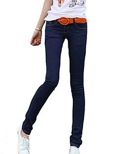 Kvinner Bukse Polyester Fritid / Plusstørrelser