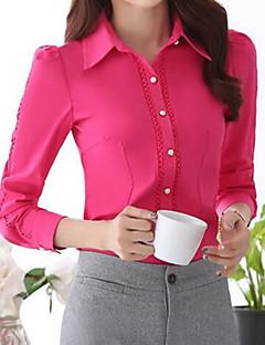 Overhemdkraag - Polyester - Knoop - Vrouwen - Overhemd - Lange mouw