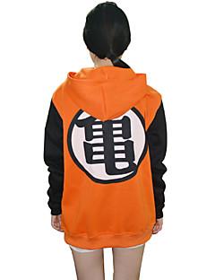 Inspired by Dragon Ball Allen Walker Anime Cosplay Costumes Cosplay Hoodies Print Black / Orange Long Sleeve Top