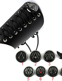 Weapon / Jewelry Inspired by Assassin's Creed Cosplay Anime Cosplay Accessories Gauntlets / Badge Black Alloy / Patent Leather Male