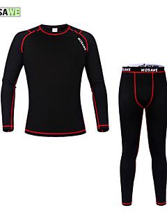 Wosawe® Cyklo základní vrstva Unisex Dlouhé rukávy Jezdit na kole Zahřívací / Komprese / Yumuşakzákladní vrstvy / Kompresní oblečení /