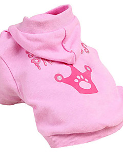 Dog Hoodie Pink Dog Clothes Winter Tiaras & Crowns Cosplay