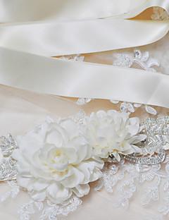 Satijn Huwelijk / Feest/Uitgaan / Dagelijks gebruik Sjerp-Pailletten / Sierstenen / Appliqués / Parels / Bloemen Dames 98 ½ In (250Cm)