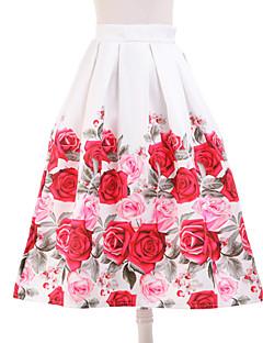 Jupes Aux femmes Mi-long Simple Polyester Non Elastique