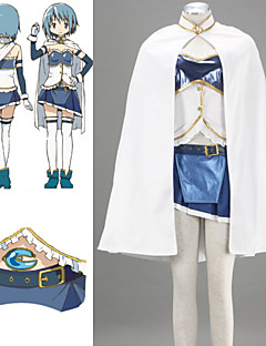 Inspired by Puella Magi Madoka Magica Sayaka Miki Anime Cosplay Costumes Cosplay Suits Patchwork WhiteCloak / Top / Skirt / Sleeves /