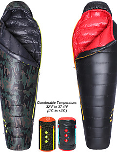 Sleeping Bag Mummy Bag Single +20 Degrees Celsius Duck Down 400g 203cm Hiking / Camping / Beach / Traveling / Hunting / Outdoor / Indoor