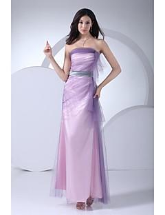 Robe - Multicolore Soirée formelle Robe de Soirée Sans Bretelles Longueur Sol Tulle