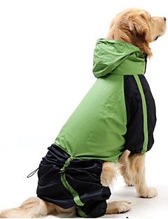 Cat / Dog Rain Coat Red / Green Dog Clothes Summer / Spring/Fall Color Block Windproof / Waterproof
