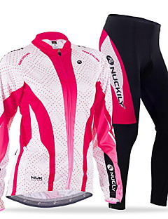 NUCKILY® Cycling Jersey with Tights Women's Long Sleeve BikeBreathable / Windproof / Anatomic Design / Moisture Permeability / Front