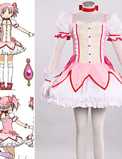 Inspired by Puella Magi Madoka Magica Madoka Kaname Anime Cosplay Costumes Cosplay Suits Patchwork PinkSkirt / Dress / Headpiece / Tie /