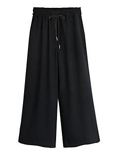 Grote maten / Street chic-Katoen / Polyester-Micro-elastisch-Ruim / BreedBeen-Broek-Vrouwen