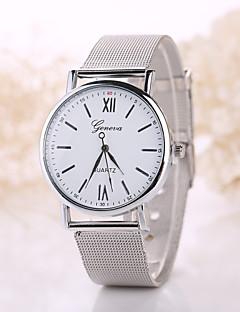 Herren Damen Modeuhr Quartz Armbanduhren für den Alltag Edelstahl Band Böhmische Silber Gold Weiß Schwarz