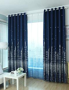 zwei Panele Window Treatment Modern , Cartoon Design Schlafzimmer Polyester Stoff Verdunklungsvorhänge Vorhänge Haus Dekoration For