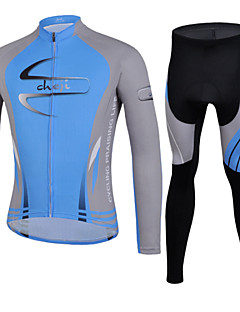 CHEJI® Cycling Jersey with Tights Men's Long Sleeve BikeBreathable / Quick Dry / Ultraviolet Resistant / Lightweight Materials / 3D Pad /