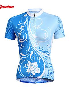 TASDAN サイクリングジャージー 女性用 半袖 バイク ジャージー トップス 速乾性 抗紫外線 高通気性 モイスチャーコントロール ポリエステル100% 夏 秋 サイクリング/バイク