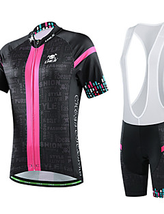 CHEJI® Cycling Jersey with Bib Shorts Women's Short Sleeve Bike Breathable / Quick Dry / Ultraviolet Resistant / 3D Pad / Limits Bacteria